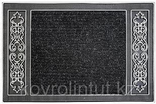 """Коврик EHOME  5095 0,45м Х 0,70м Чёрный с  резиновой каймой """"орнамент"""""""
