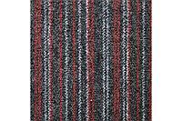 Ковровая плитка Betap Vienna 7785 (50х50) толщина 3,9 мм серо-красные линии (5,0 кв.м. -20 шт), М2