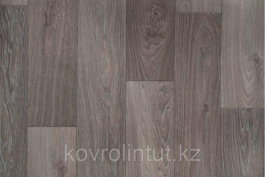 Линолеум Jutex GLAMOUR  Porto 6705  (толщ. 3,2 защ. 0,3) 3,5 м  Доска дуб серый