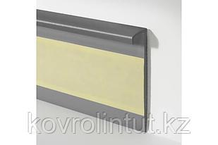 Плинтус для ковролина  Dollken Германия TLE 55 с эластичным верхом цвет серый 55 мм х 10 мм х 2,5м