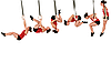 Гимнастические кольца с ремнями и фиксаторами (пластик), фото 2