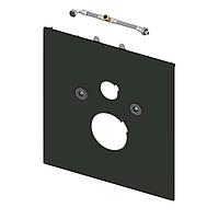 Стеклянная панель TECElux для установки унитазов-биде (Geberit Aquaclean Sela и т. п.), нижняя, стекло черное