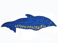 """Коврик с массажно-ортопедический камнями """"Дельфин"""" 150х40 (синий) MS-1216"""