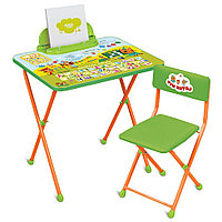 Набор мебели НИКА ТРИ КОТА стол+стул от 3 до 7 лет