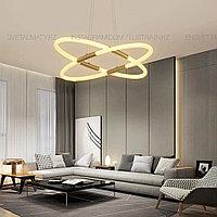 Современная светодиодная люстра на 4 ламп, цвет латунь, фото 1