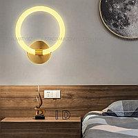 Современная светодиодная бра на 1 лампу, цвет латунь, фото 1