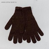 """Перчатки мужские из шерсти """"Як"""" 04123 цвет шоколадный, р-р 20-24"""