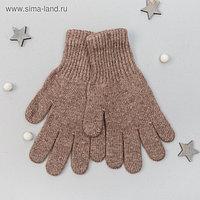 """Перчатки женские из шерсти """"Як"""" 04124 цвет коричневый, р-р 17-19"""