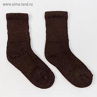 Носки женские, цвет шоколадный, размер 23 (36-37)