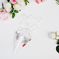 Лепестки роз, белые, 22 х 12 см