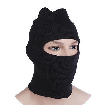 Балаклава - маска 1 отверстие, цвет чёрный