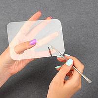 Палитра для смешивания лаков 10 × 15 см, с шабером 15 см, цвет прозрачный