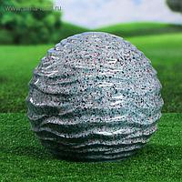 """Садовый декор """"Шар"""", волнистый, серый, 33 см"""