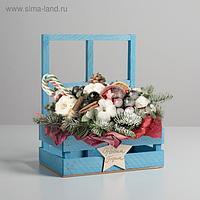 """Кашпо флористическое с окном """"Звезда"""", 15 × 9 × 25 см"""