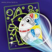"""Лунная фреска """"Самый милый кот"""""""