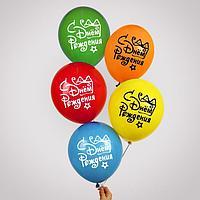 """Воздушный шар 12"""" «С днём рождения», подарок с бантом, 1 ст., набор 100 шт"""