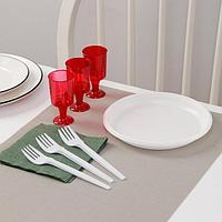Набор одноразовой посуды Доляна 'Давай!', 3 персоны, тарелки десертные, рюмки 100 мл, вилки, салфетки