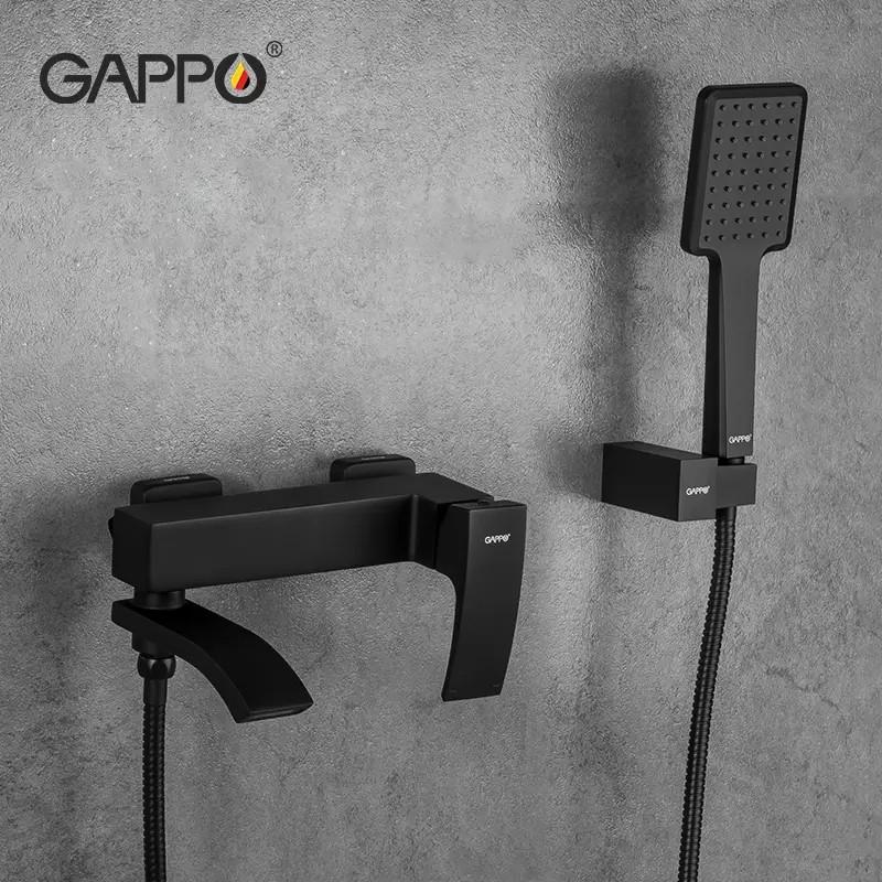 Смеситель для ванны чёрный Gappo