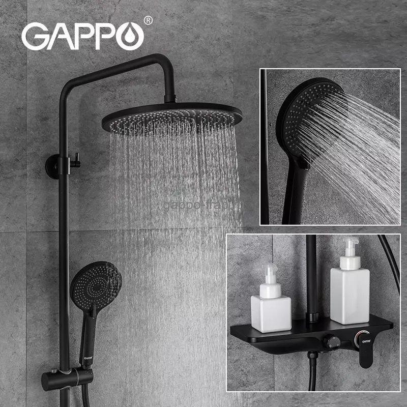 Душевая стойка Gappo со смесителем-черный