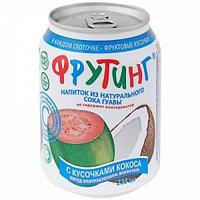 Fruiting напиток из сока гуавы с кусочками кокоса, 238 мл