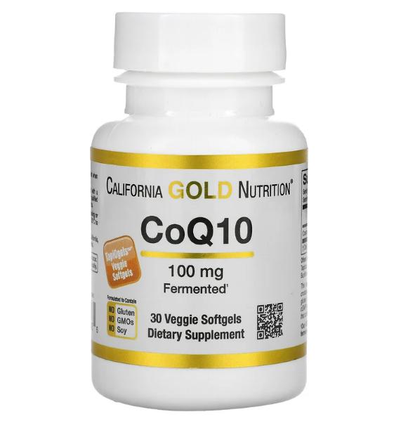 California Gold Nutrition, Коэнзим Q10, 100 мг, 30 растительных капсул