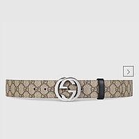 Ремень двусторонний Gucci GG Supreme