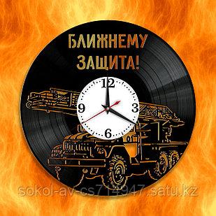 Настенные часы Пожарная Пожарник, подарок фанатам, любителям, 2919