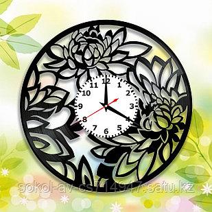 Настенные часы Цветы, подарок фанатам, любителям, 2925