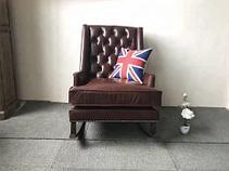 Деревянное кресло-качалка, фото 3