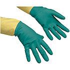 """Перчатки резиновые Vileda Professional """"Усиленные"""" с неопреном, р.L, зеленый/желтый, пакет, фото 2"""