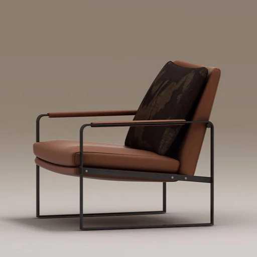 Современное кожаное кресло