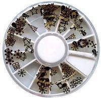 BC-14 Украшения металлические в круглой таре (новогодние)