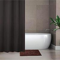 Набор для ванной SAVANNA «Комфорт»: штора 180×180 см, ковёр 40×60 см, цвет коричневый