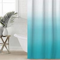 Штора для ванной комнаты SAVANNA «Градиент», 180×180 см, EVA, цвет морская волна