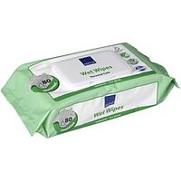 Влажные очищающие салфетки Abena, с пластиковой крышечкой, 80 шт