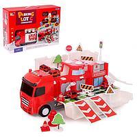 Парковка-трансформер «Пожарная служба», с машинками, свет