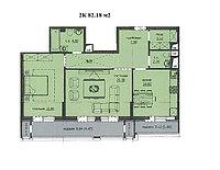 """2 комнатная квартира """"ЖК Аскер"""" 82.18 м2, фото 1"""