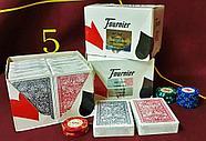 Игральные карты Fournier 2818 100% пластик, красная рубашка, фото 6