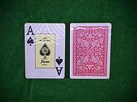 Игральные карты Fournier 2818 100% пластик, красная рубашка