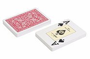 Игральные карты Fournier 2818 100% пластик, красная рубашка, фото 2