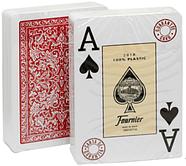 Игральные карты Fournier 2818 100% пластик, красная рубашка, фото 3