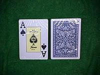 Игральные карты Fournier 2818 100% пластик, синяя рубашка