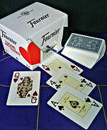 Игральные карты Fournier 2818 100% пластик, синяя рубашка, фото 6