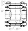Смотровое стекло двухсторонее DW40S (DN 32 – DN 50), фото 2