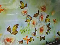 Красивая Гелевая плотная клеенка скатерть дастархан, нежные цветы