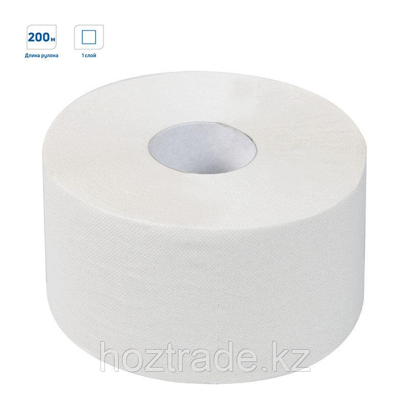 Бумага туалетная OfficeClean Professional(T2), 1-слойная, 200м/рул, цвет натуральный