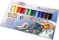Набор маркеров для Текстиля 12 цветов (в виде выдвижных мелков)
