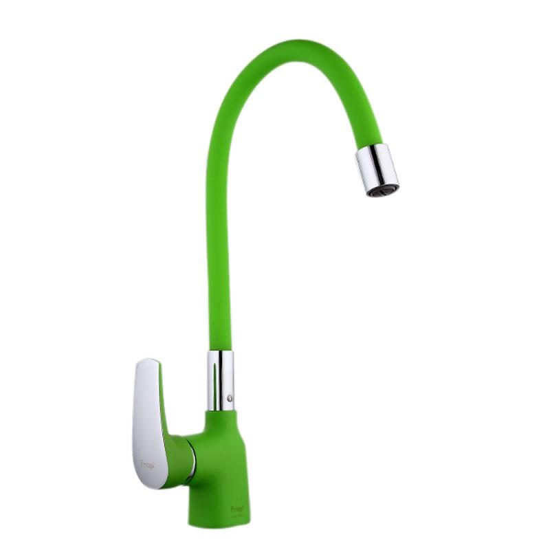 Смеситель для кухни Frap F4453-05 (зеленый)