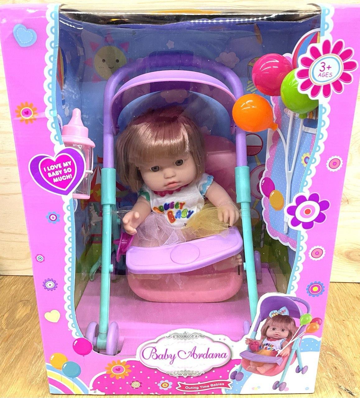 A551A Baby Ardana Девочка с коляской 36*27см