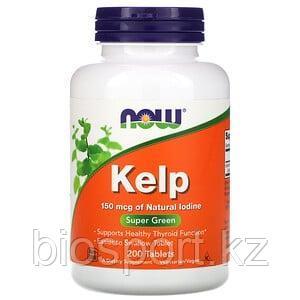 Now Foods, KELP, бурые водоросли, 150 мкг, 200 таблеток